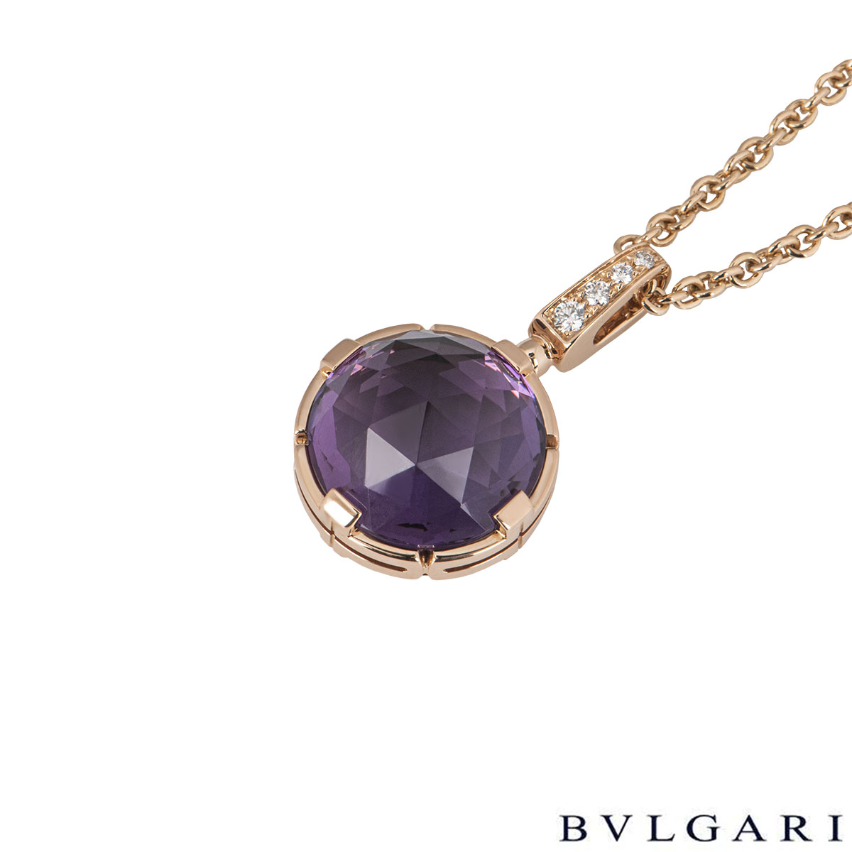 Bvlgari Rose Gold Amethyst Parentesi Necklace